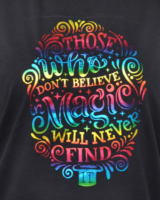 T.Foil-Rainbow-Those-Who-Dont-Believe-In-Magic-Will-Never-Find-It Tattoo Application Form on piercing consent, liability waiver, florida department health minor, consent release, vintage dress, ward bond,